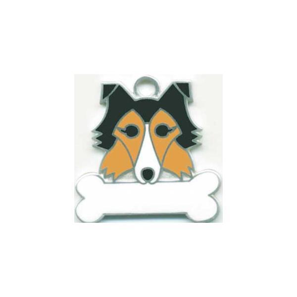 シェットランドシープドッグ  犬 迷子札  ドッグタグ 【名入れ】 トップワン ペット 犬鑑札 IDプレート メール便 アクセサリー  携帯ストラップ|topwan