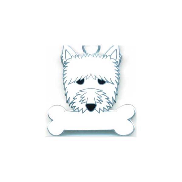 ウエストハイランドテリア  犬 迷子札  ドッグタグ 【名入れ】 トップワン ペット 犬鑑札 IDプレート メール便 アクセサリー  携帯ストラップ|topwan