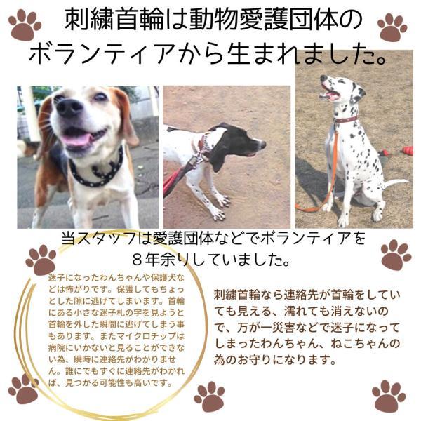 水に濡れても大丈夫 日本製 軽量迷子札 刺繍ネーム首輪(ねこ 犬 迷子札) Sサイズ 首周り17cm前後から制作可能 名前入 電話番号 ネーム首輪|topwan|05