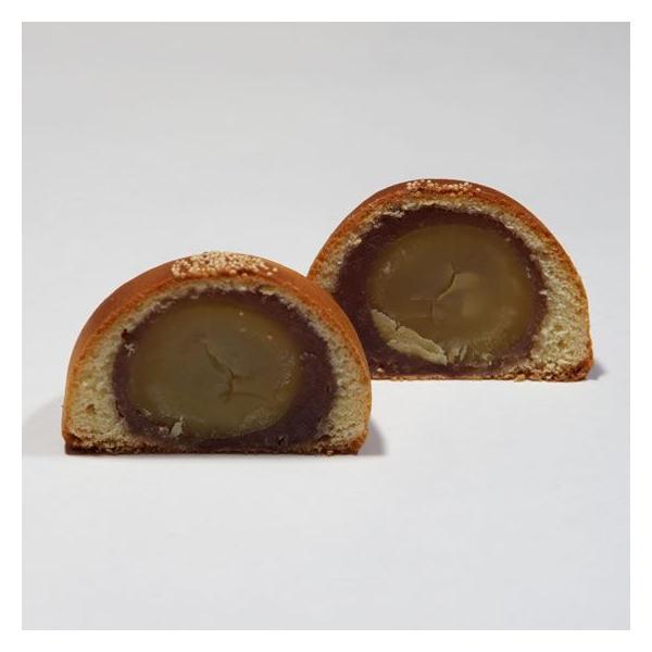 大粒の栗をまるごと一つ小豆あんで包んだ栗饅頭(くりまんじゅう) 峰の月 9個入り|toramin|02