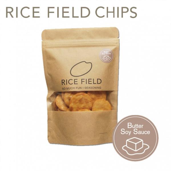 RICE FIELD CHIPS ライスフィールドチップス 醤油バター 1袋 京寿楽庵|toraya-sweets