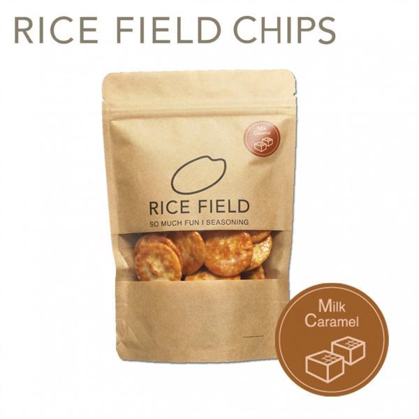 RICE FIELD CHIPS ライスフィールドチップス ミルクキャラメル 1袋 京寿楽庵|toraya-sweets