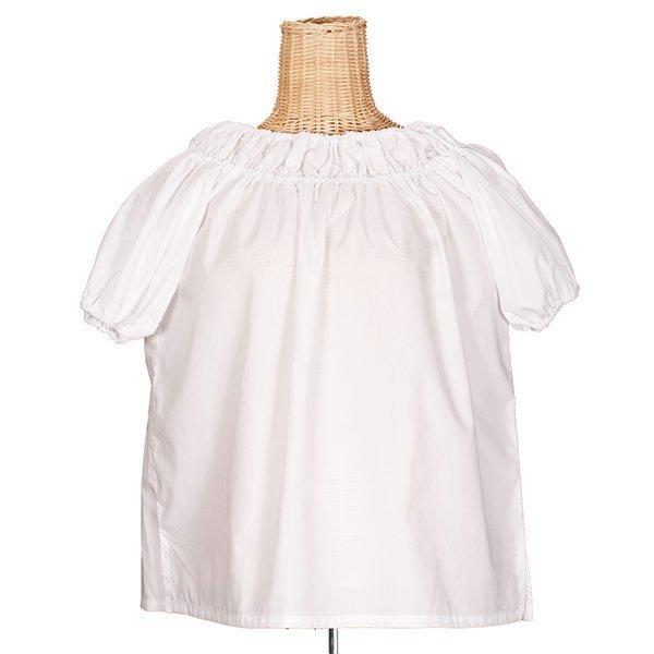 フラダンス衣装 ブラウス GB-001 ブラウス 白 綿ポリ お仕立て 色変更可