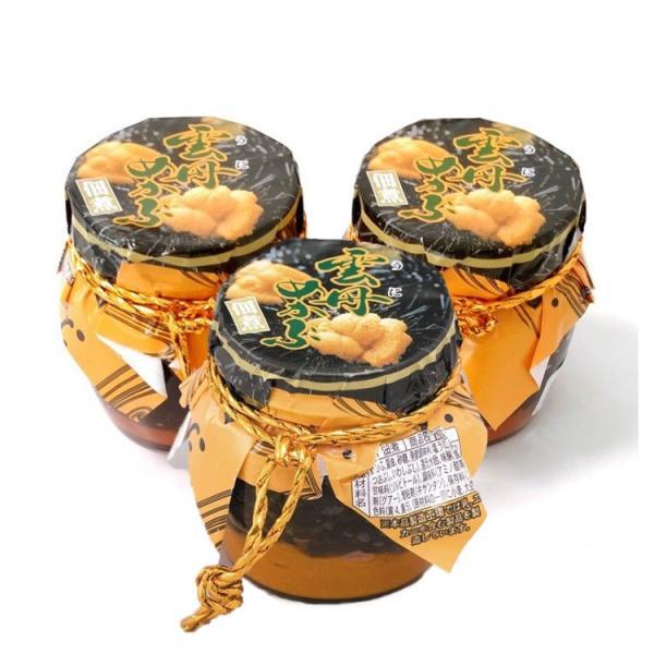 雲丹(うに) めかぶ 450g (瓶 150g3本 セット) めかぶの佃煮と塩ウニ  送料無料 常温便|toretate1ban|04