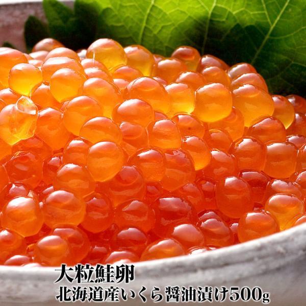 いくら イクラ 醤油漬け 500g 北海道産 大粒 鮭卵