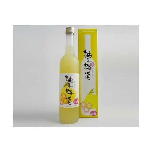 プラム食品 柚子梅酒 (500ml)