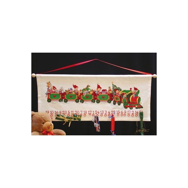 OOE クロスステッチ刺繍キット 12140 クリスマス アドベントカレンダー 【海外取り寄せ/納期40〜80日程度】