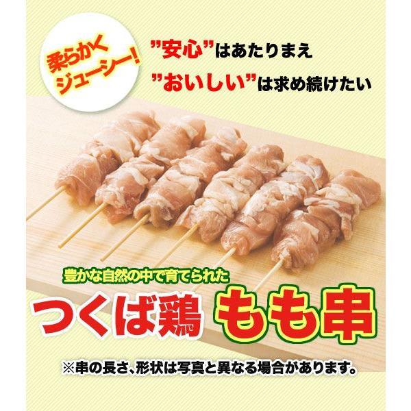 焼き鳥 国産つくば鶏 もも串 40g×20本 新鮮なつくば鶏もも肉をふんだんに使った定番の焼き鳥 バーベキュー、BBQに最適 茨城県産 焼き鳥/焼鳥/やきとり