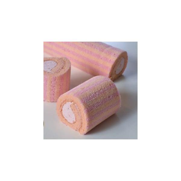 ロールケーキ いちご(栃木県産とちおとめ苺使用) 1本(約200g、約5×33cm) (フリーカット)