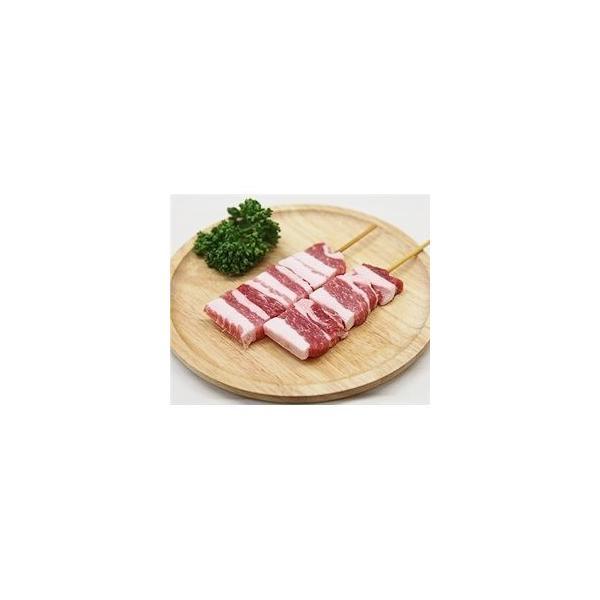 豚バラ串 40g×20本 外国産豚 (15cm丸串)(pr)(やきとん)