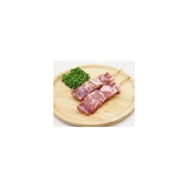 豚コメカミ(かしら)串 40g×20本 国産豚 (15cm丸串)(pr)(45120)(やきとん)