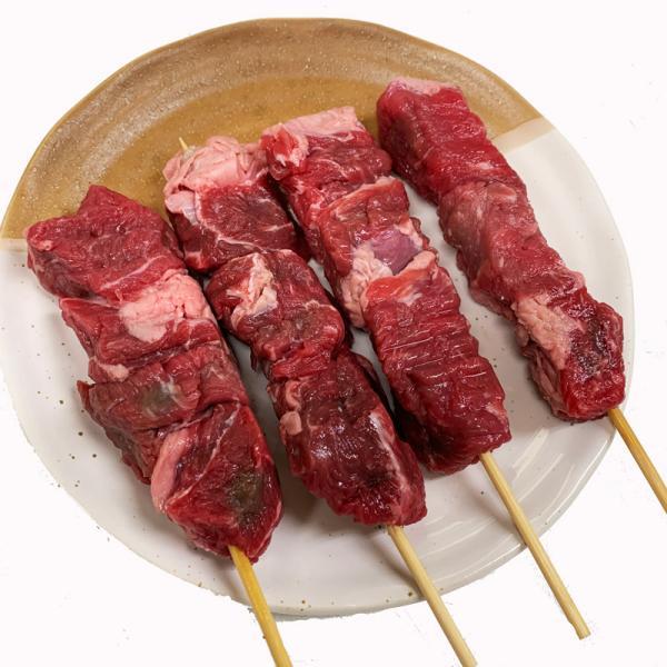 牛肩ロース串 40g×20本 外国産(アメリカ産牛肉) (15cm丸串)(pr)(49229-20)【牛肉串】