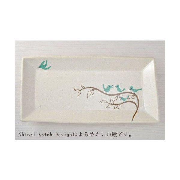 小鳥の食事スクエアプレート 角皿 トリ(美濃焼)|torippie|02