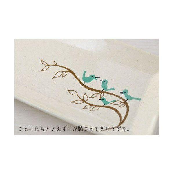 小鳥の食事スクエアプレート 角皿 トリ(美濃焼)|torippie|04