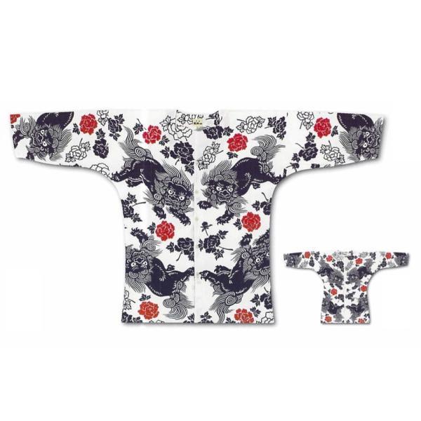 江戸一 祭り 鯉口シャツ 手拭 唐獅子赤 女性用 中 メンズ 着物 メンズ浴衣 メンズ 着物 メンズ浴衣|tosen