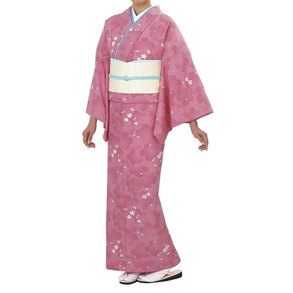 踊り衣裳【反物 一越小紋着尺 日印】ピンク 取り寄せ商品 「日本の踊り」掲載 踊り絵羽 女性用 レディース 洗える着物
