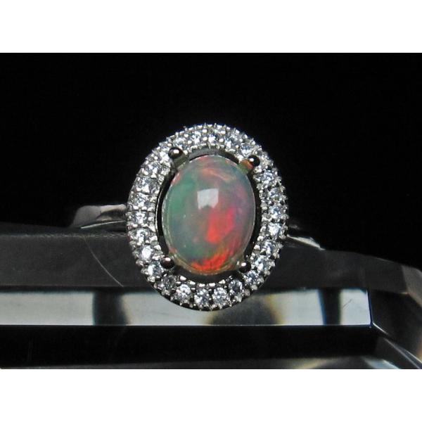 ホワイトオパール 指輪 リング フリーサイズ [送料無料] 115-693