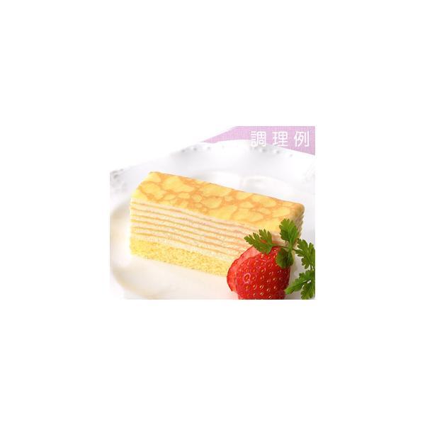 冷凍食品 冷凍ケーキ クレープケーキ 業務用 フレック フリーカットケーキ ミルクレープ 約480g