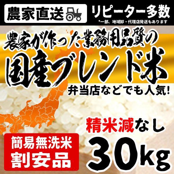 お米 30kg 送料無料 5kg×6袋 簡易無洗米 業務品質ブレンド米 こむすび米 白米 安い 令和2年産 沖縄・離島配送不可 出荷表要確認
