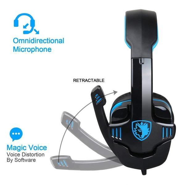 Docooler ゲーミングヘッドフォン 3.5mm ヘッドホン SA-708GT 高音質 マイク付き ノイズキャンセリング ヘッドセット