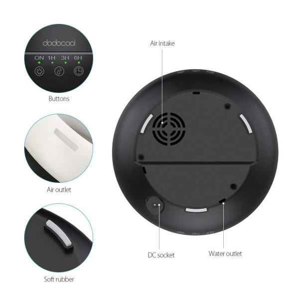 アロマディフューザー 加湿器 超音波 静音 7色変換LED搭載 空焚き防止 タイマー機能 部屋会社など各場所用