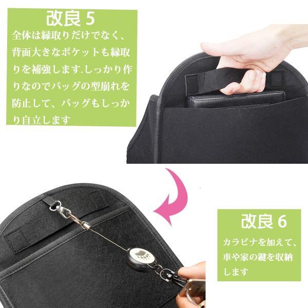 リュックインバッグ バッグインバッグ リュック 自立 高級 インナーバッグ a4 b4 a5 通勤 通学 旅行 収納バッグ 小物 整理 縦