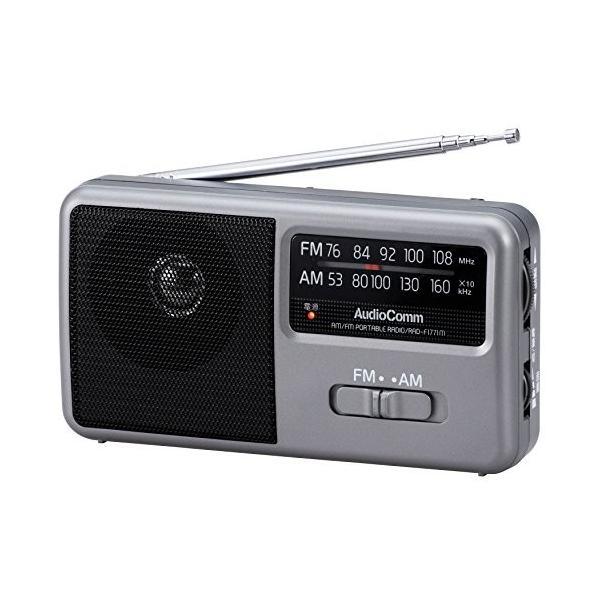 OHM AM/FM コンパクトポータブルラジオ RAD-F1771M
