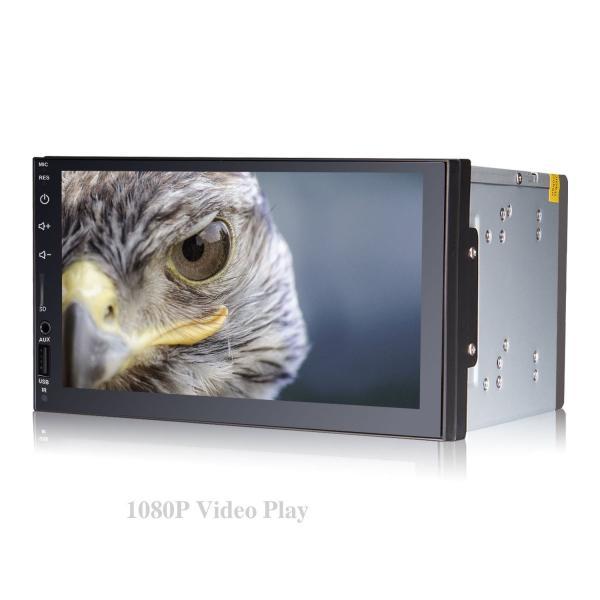 2 Din カーラジオ 車?DVD BT Mp4 MP3プレーヤー7インチタッチスクリーンカーエンタテインメントシステムUSB TF AUX