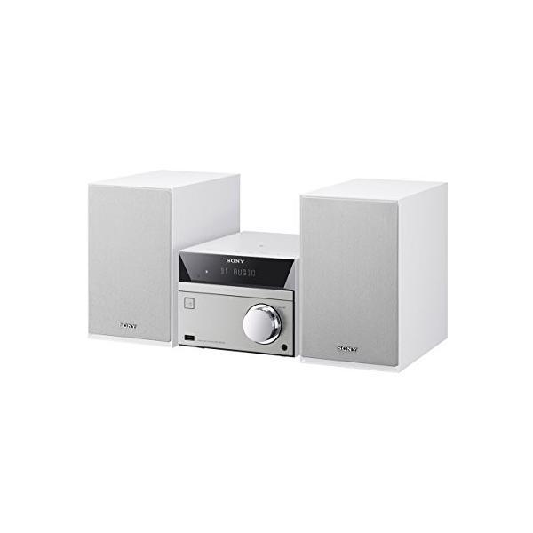 ソニー SONY マルチコネクトミニコンポ CMT-SBT40 : Bluetooth/FM/AM/ワイドFM対応 ホワイト CMT-SBT