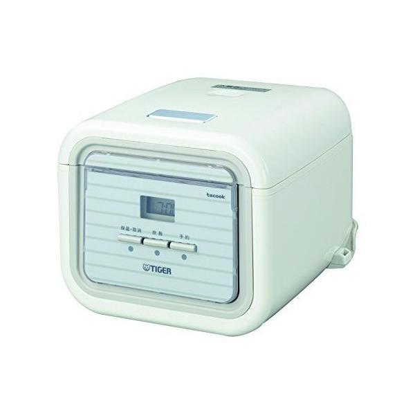 タイガー マイコン 炊飯器 3合 シンプルホワイト レシピ付 tacook 炊きたて 炊飯 ジャー JAJ-A552-WS Tiger|totasu888