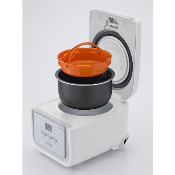 タイガー マイコン 炊飯器 3合 シンプルホワイト レシピ付 tacook 炊きたて 炊飯 ジャー JAJ-A552-WS Tiger|totasu888|03