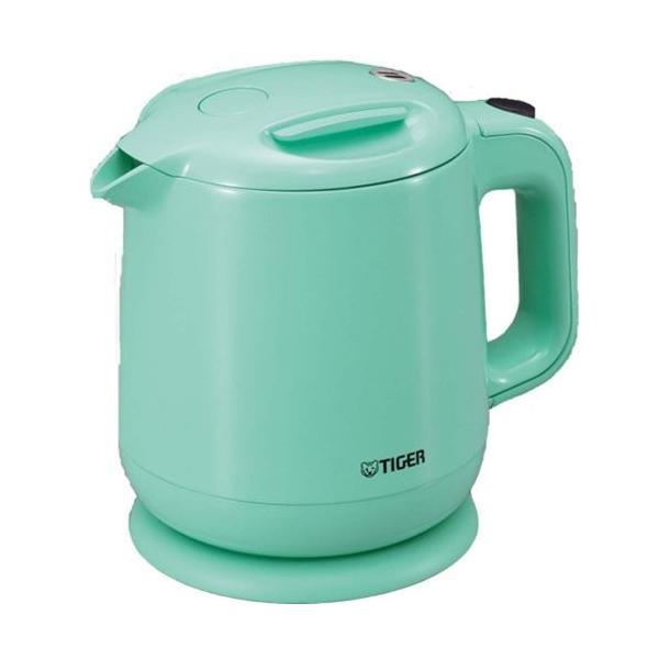 飲みたいときにサッと沸く TIGER 電気ケトル 0.8L(フッ素加工内容器)アクアブルー PCE-A080-AA totasu888