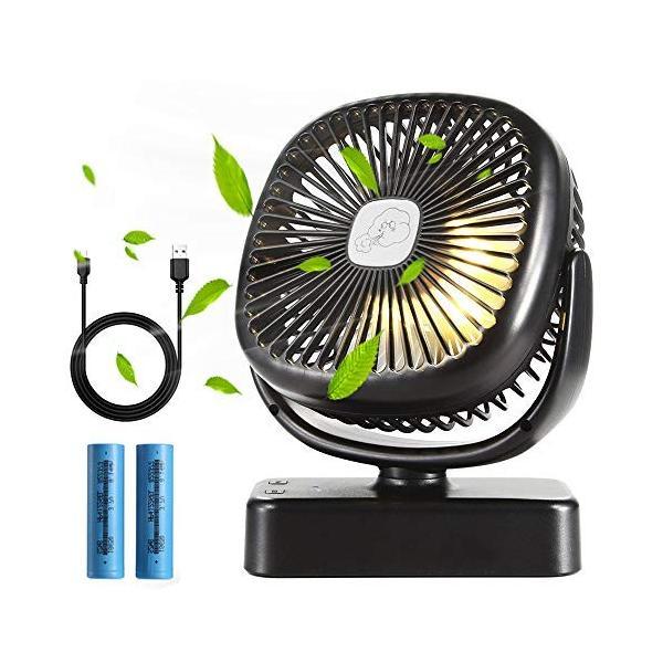 クリップ扇風機 Flinelife 卓上扇風機 usb 静音 携帯 小型 ミニ ベビーカー充電式 扇風機 クリップ 車内 LEDライト付き|totasu888|04