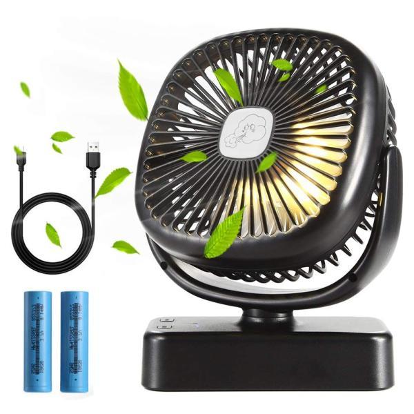 クリップ扇風機 Flinelife 卓上扇風機 usb 静音 携帯 小型 ミニ ベビーカー充電式 扇風機 クリップ 車内 LEDライト付き|totasu888|07
