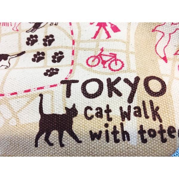 18ozキャンバストートマップ S 東京お散歩猫ちゃん totemap 03