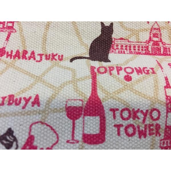 18ozキャンバストートマップ S 東京お散歩猫ちゃん totemap 04