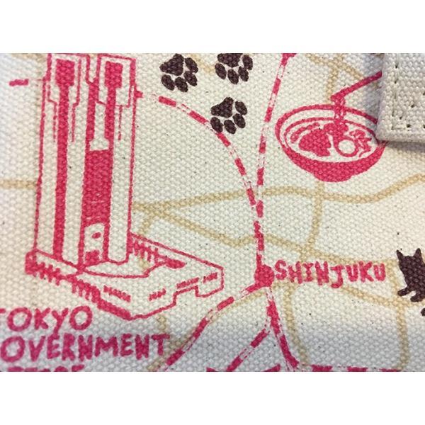 18ozキャンバストートマップ S 東京お散歩猫ちゃん totemap 05