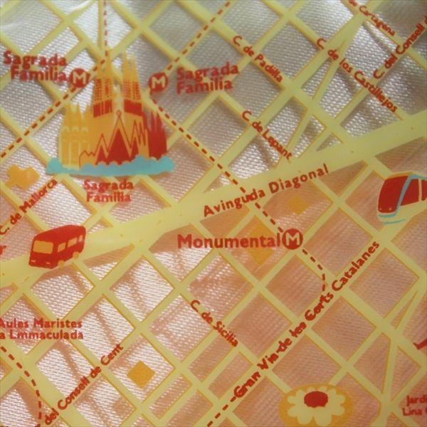 友好都市(フレンドシップシティーズ)トートマップミニ 神戸×バルセロナ totemap 03