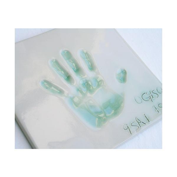 【お家で陶芸〜手形足形タイルDタイプ】家族やペットの手形足形をタイルにしませんか。|touban-art