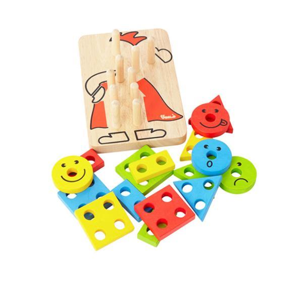 木製玩具 木のおもちゃ パズル 組み合わせ 知育 Voila ボイラ カラフルクラウン 【ラッピング対応】 tougenkyou 04