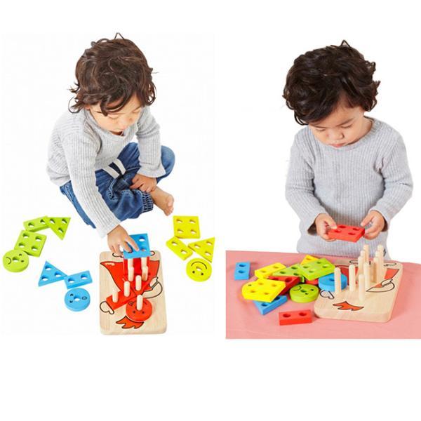 木製玩具 木のおもちゃ パズル 組み合わせ 知育 Voila ボイラ カラフルクラウン 【ラッピング対応】 tougenkyou 07