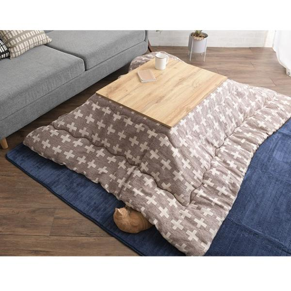 こたつ コタツ 炬燵 コタツテーブル ローテーブル CARTES 長方形こたつテーブル 幅75cm|tougenkyou|13