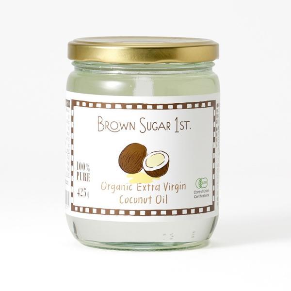 ココナッツオイル 食用 オーガニック ココナツオイル BROWN SUGAR 1ST.(ブラウンシュガー1ST) 有機エキストラバージンココナッツオイル 425g|tougenkyou