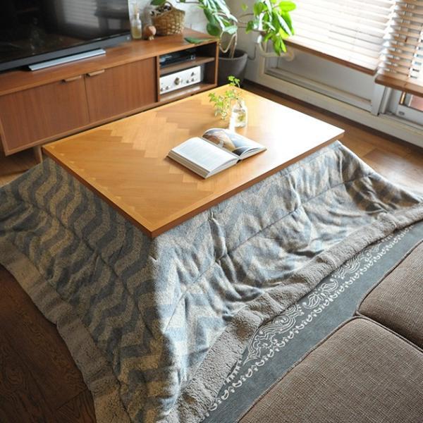 こたつ コタツ テーブル 長方形 おしゃれ こたつテーブル ヘリンボーン調 幅105cm 長方形|tougenkyou