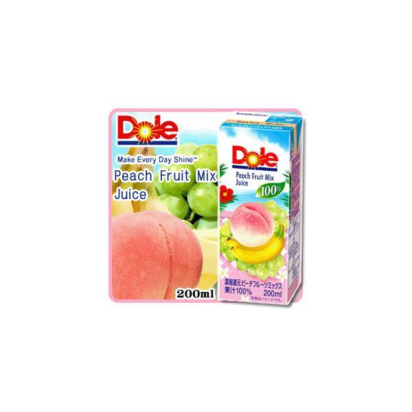 Dole ドール ピーチフルーツミックス 100% 200ml  【果汁100パーセント】【ピーチ】【モモ】【桃】【バナナ】【白ブドウ】【白ぶどう】【ジュース】