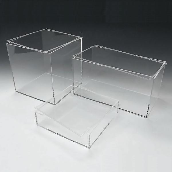 アクリル透明収納BOX W400mm×H50mm×D350mm 板厚4mm    透明ケース アクリルケース クリアケース プラスチックケース 収納ボックス
