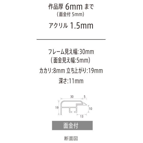 額縁 手ぬぐい額縁 横長の額縁 アルミフレーム CF面金付 手ぬぐいサイズ890X340mm touo 03