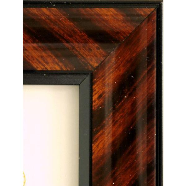 額縁 OA額縁 ポスター額縁 木製フレーム 金ラック(0015) B5サイズ|touo|02