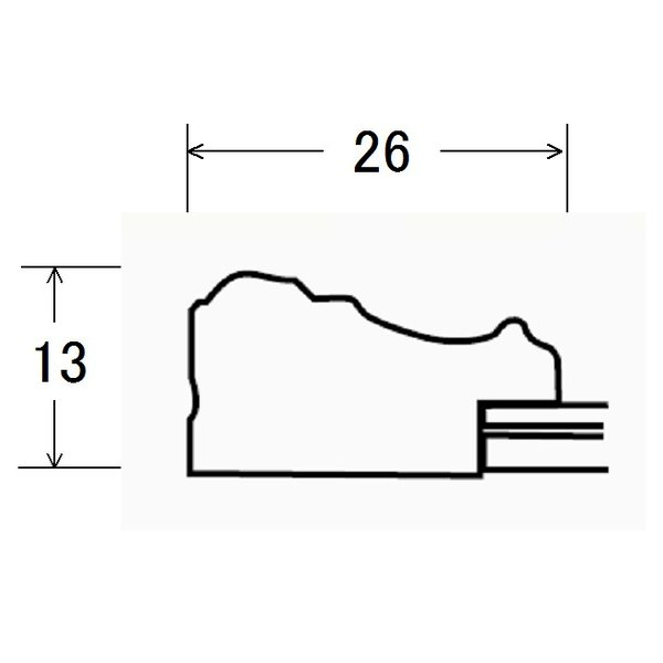 賞状額縁 フレーム 許可証額縁 ネオ金ラック エコマーク認定商品(01221) 七九サイズ|touo|03