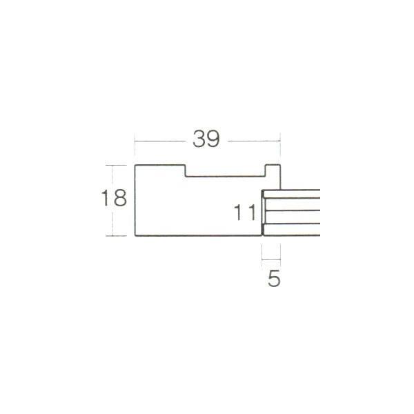 額縁 長八角額 正八角額縁 木製フレーム 5267 長八角250X170mmサイズ|touo|02